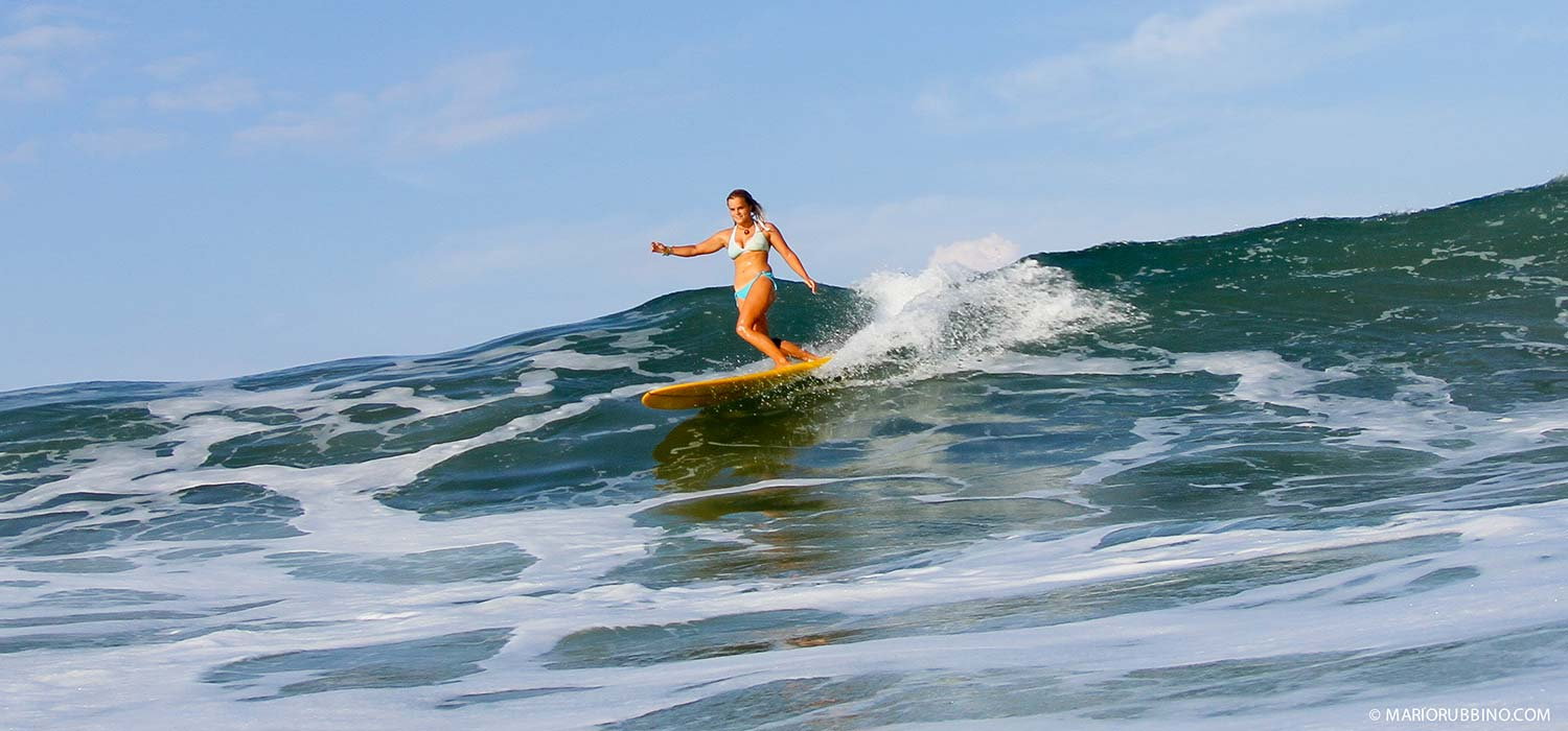 Surfing in Santa Teresa, Costa Rica