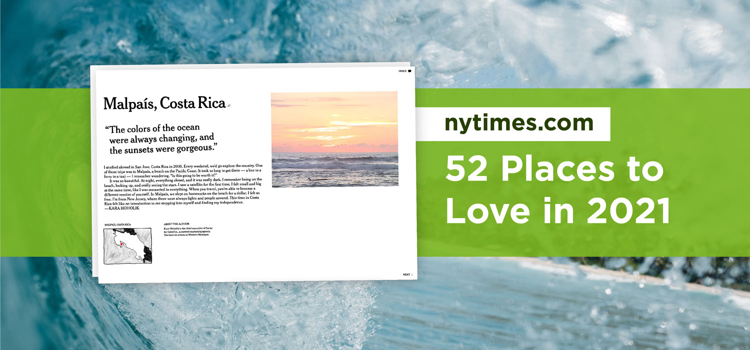NY TImes 52 Places to Love