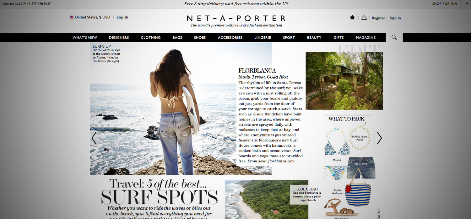 Net-A-Porter, 5 of the Best Surf Spots