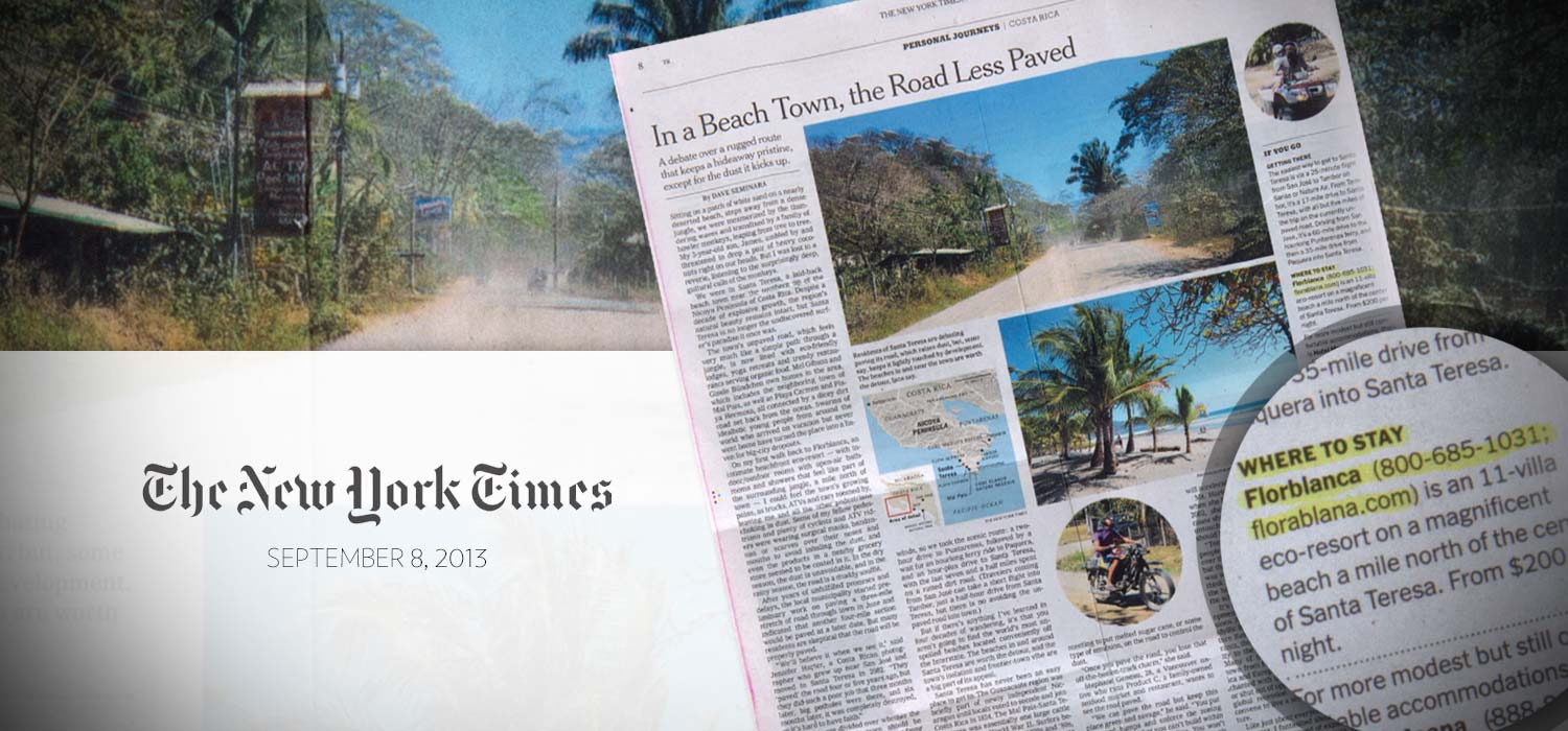 Florblanca in teh New York Times Travel Section