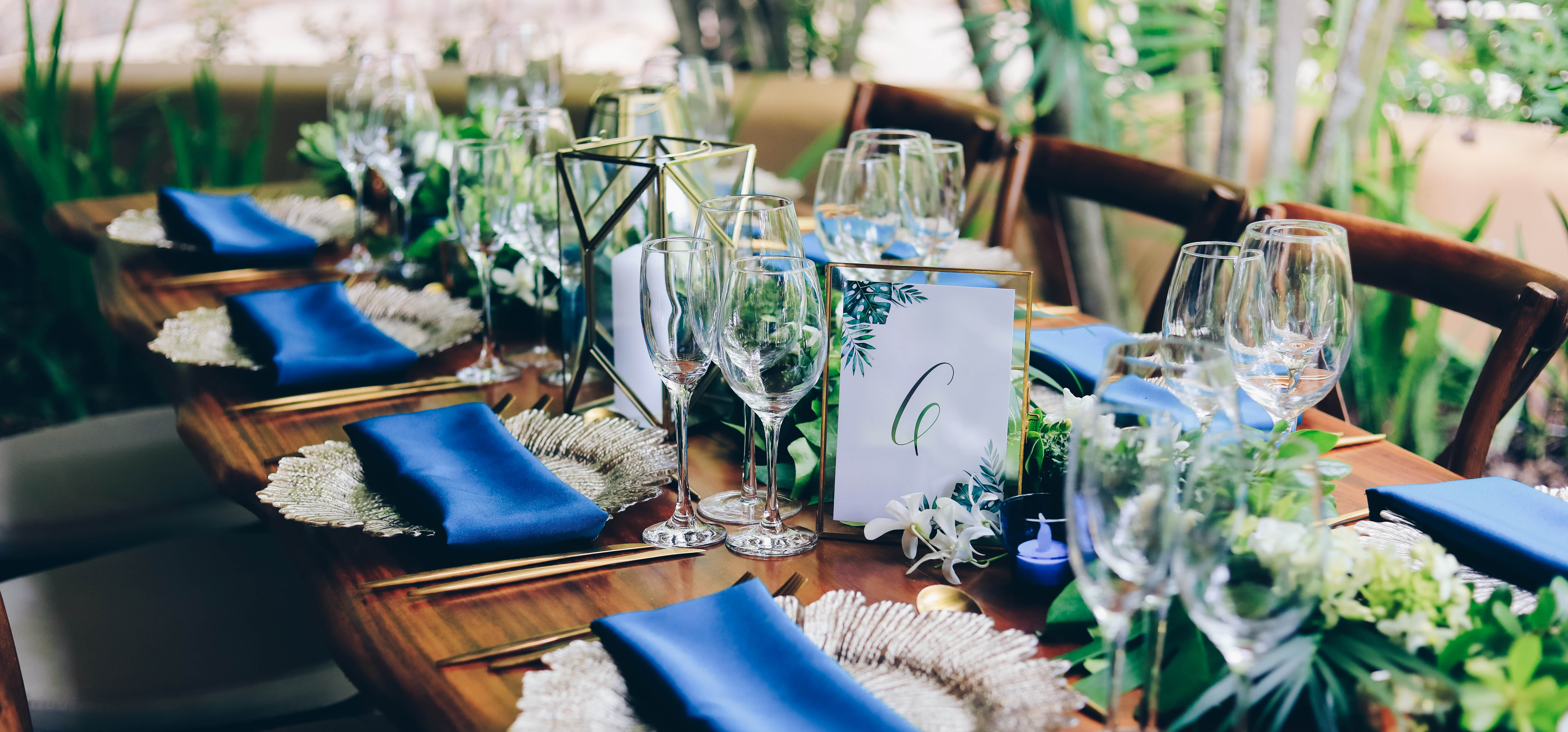 Wedding Table Setting, Florblanca